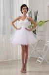 Hawaiian Garden A-line Asymmetric Neckline Sleeveless Organza Rhinestone Bridal Gowns