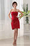 Simple Sheath Sweetheart Sleeveless Mini Ruching Club Dresses