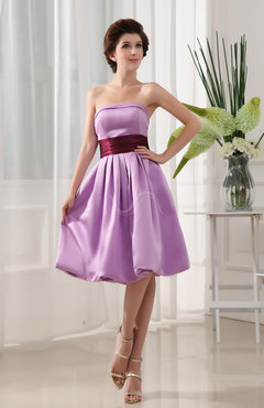Begonia Plain A-line Sleeveless Zip up Satin Ribbon Homecoming Dresses