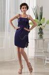 Simple Sleeveless Zipper Chiffon-Satin Edging Graduation Dresses