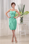 Plain Sheath Sleeveless Zip up Knee Length Ruching Mother of the Bride Dresses