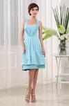 Classic A-line Halter Sleeveless Chiffon-Satin Ruching Club Dresses