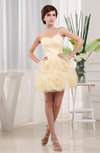 Disney Princess A-line Sweetheart Sleeveless Organza Mini Bridesmaid Dresses