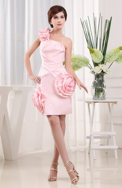 Blush Sexy Column Zipper Satin Ruching Club Dresses