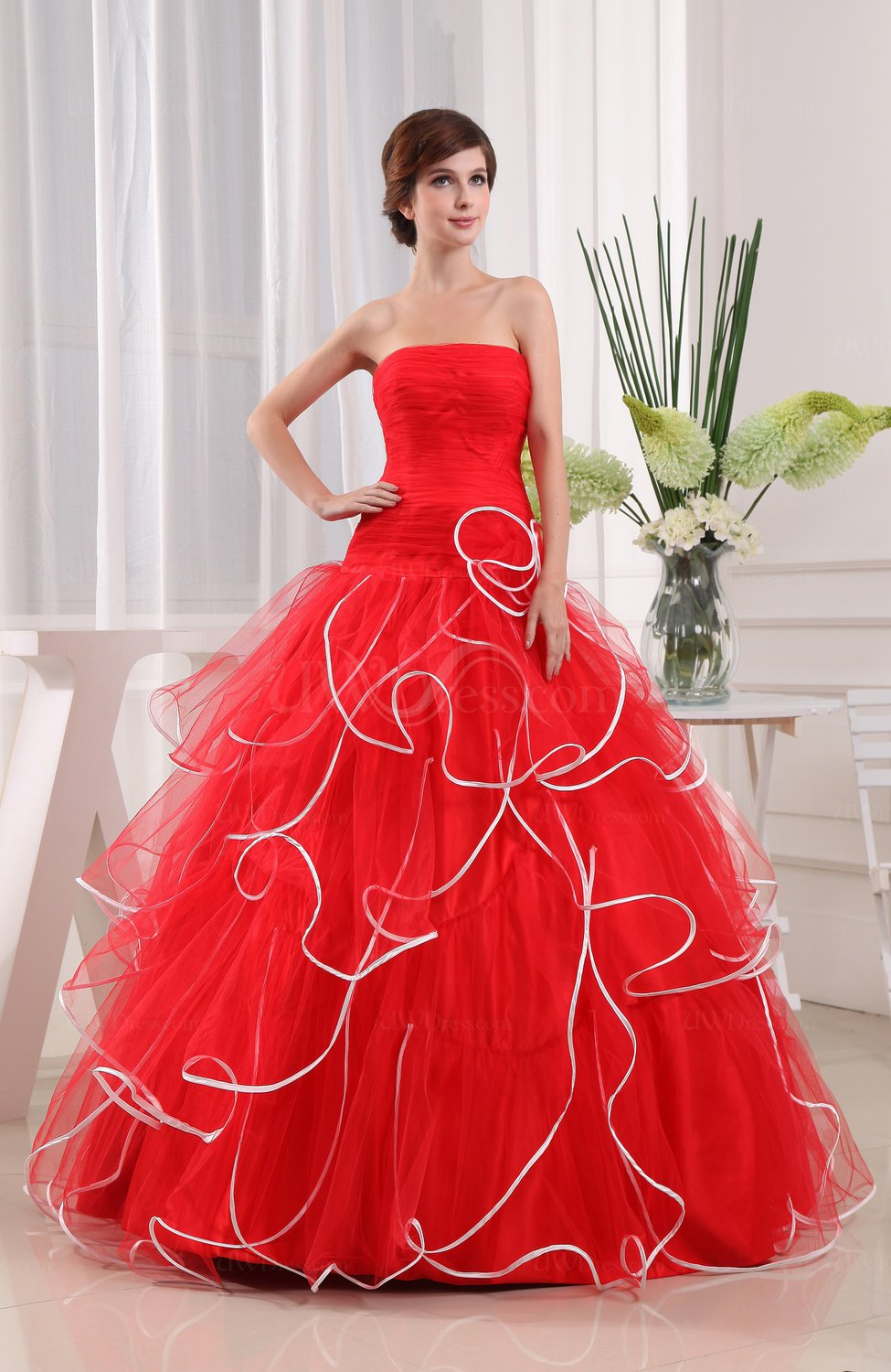 Disney Princess Hall Ball Gown Zip up Floor Length Plainness Bridal ...
