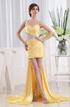 Modest Thick Straps Sleeveless Backless Silk Like Satin Embroidery Evening Dresses