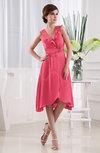 Simple A-line Zipper Chiffon-Satin Knee Length Edging Club Dresses