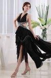 Sexy A-line Sleeveless Criss-cross Straps Chiffon Floor Length Wedding Guest Dresses
