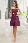 Elegant A-line Sweetheart Taffeta Short Ruching Wedding Guest Dresses