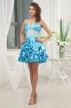 Romantic A-line Sleeveless Backless Silk Like Satin Homecoming Dresses