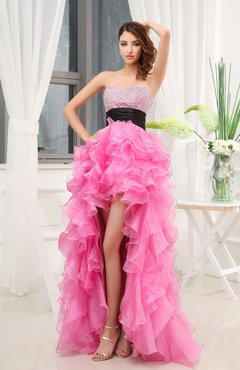 Sexy Sleeveless Organza Short Sequin Evening Dresses