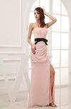 Plain Sheath Strapless Zip up Chiffon Floor Length Mother of the Bride Dresses