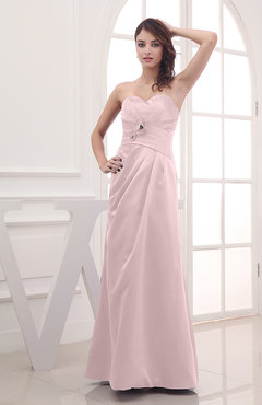 Blush Cute A-line Sweetheart Sleeveless Zipper Flower Party Dresses