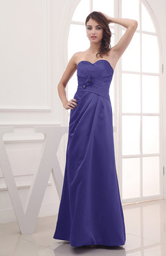 Purple Cute A-line Sweetheart Sleeveless Zipper Flower Party Dresses
