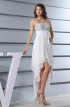 Simple Sweetheart Zipper Chiffon Hi-Lo Sequin Party Dresses