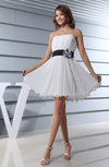 Simple A-line Strapless Sleeveless Zip up Short Homecoming Dresses