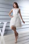 Fairytale A-line Boat Sleeveless Mini Homecoming Dresses