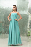 Simple Sleeveless Zipper Floor Length Ruching Prom Dresses