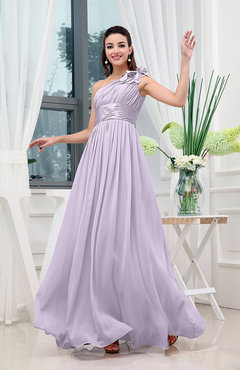 Light Purple Classic A-line One Shoulder Sleeveless Zipper Sash Cocktail Dresses