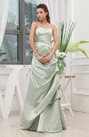 Plain Spaghetti Sleeveless Zip up Satin Ruching Evening Dresses