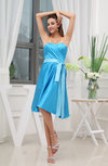 Elegant A-line Sweetheart Knee Length Sash Homecoming Dresses
