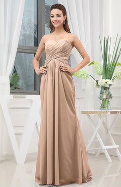 Burnt Orange Simple Sweetheart Sleeveless Zipper Floor Length Ruching Bridesmaid Dresses