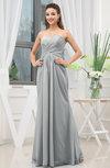 Simple Sweetheart Sleeveless Zipper Floor Length Ruching Bridesmaid Dresses