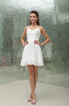 Elegant Spaghetti Sleeveless Chiffon Sequin Bridesmaid Dresses