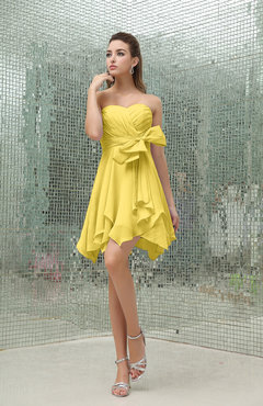 Light Yellow Cocktail Dress