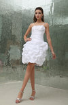 Cinderella Beach Spaghetti Zipper Taffeta Mini Paillette Bridal Gowns