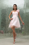 Cute A-line One Shoulder Sleeveless Backless Graduation Dresses