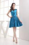 Classic A-line Zipper Silk Like Satin Short Bridesmaid Dresses