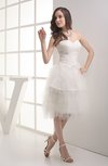 Hawaiian Hall Sweetheart Sleeveless Zip up Tea Length Bridal Gowns