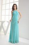 Modest Sleeveless Backless Chiffon Floor Length Ruching Bridesmaid Dresses