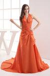 Cinderella Garden A-line Halter Sleeveless Court Train Bridal Gowns