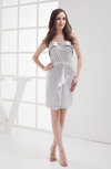 Cute Sleeveless Elastic Woven Satin Short Ruching Bridesmaid Dresses
