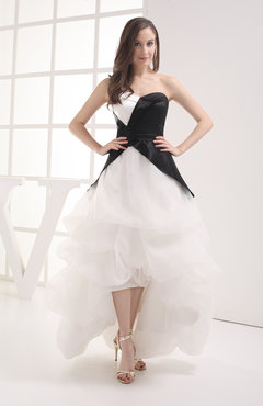 Classic Church Sweetheart Sleeveless Zip up Organza Bridal Gowns