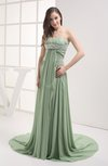 Disney Princess Garden Strapless Sleeveless Chiffon Court Train Ruching Bridal Gowns