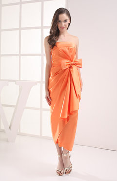 Mango Modest Sleeveless Zipper Satin Draped Graduation Dresses