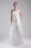 Disney Princess Outdoor A-line Sleeveless Organza Rhinestone Bridal Gowns