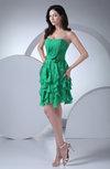 Romantic Strapless Zip up Chiffon Ruching Prom Dresses