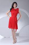 Antique A-line Sleeveless Chiffon Knee Length Ruching Bridesmaid Dresses