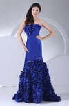 Gorgeous Column Sleeveless Zipper Court Train Flower Prom Dresses