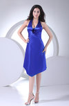 Classic A-line Sleeveless Silk Like Satin Knee Length Club Dresses