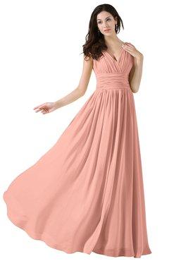 Prom Dresses Peach color Winter - UWDress.com