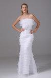 Elegant Church Sleeveless Backless Floor Length Flower Bridal Gowns