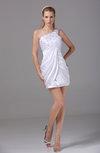 Sexy Column Sleeveless Backless Silk Like Satin Mini Bridesmaid Dresses