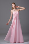 Elegant Sheath Zipper Chiffon Floor Length Party Dresses