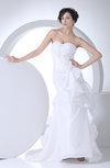 Cute Outdoor Sweetheart Sleeveless Taffeta Ruching Bridal Gowns