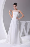 Classic Outdoor Sheer Sleeveless Zipper Court Train Ruching Bridal Gowns
